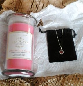 Fragrant Jewels Rose and Free Pendant